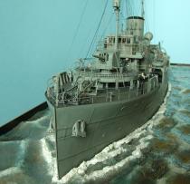 """HMCS """"AGASSIZ"""" korweta typu FLOWER   model wykonany przez stary"""