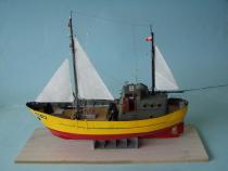 kuter rybacki KOŁ-60 skala 1:50 model wykonany przez slawomir kromer